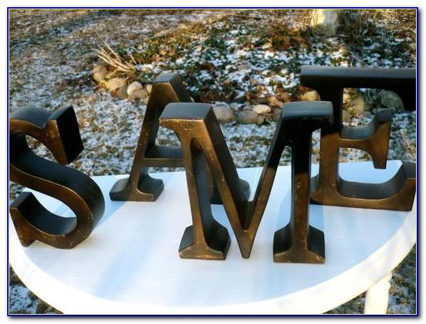 Vintage Metal Decorative Letters