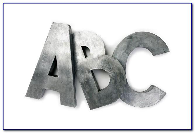 White Metal Letter Wall Decor