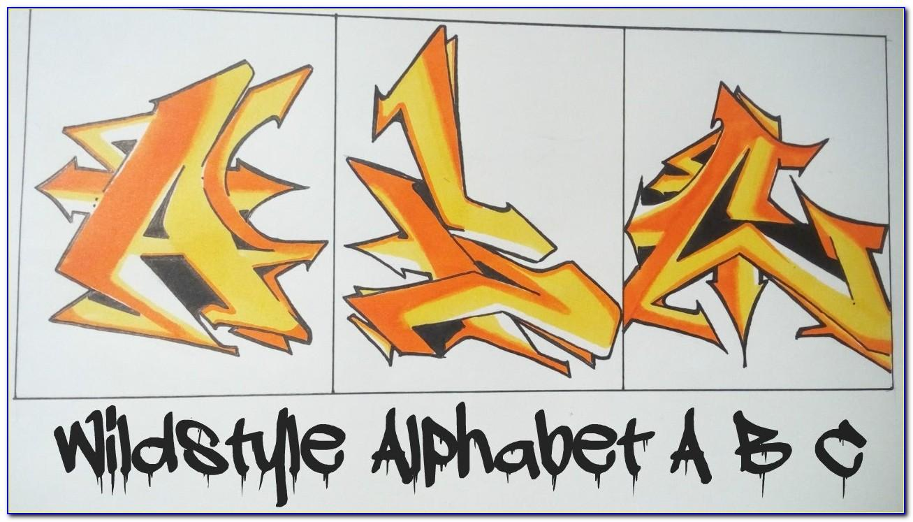 Wildstyle Graffiti Letter A