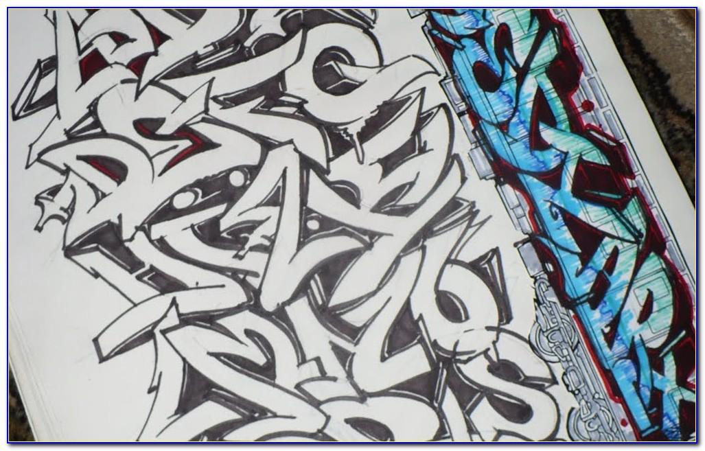 Wildstyle Graffiti Letter R