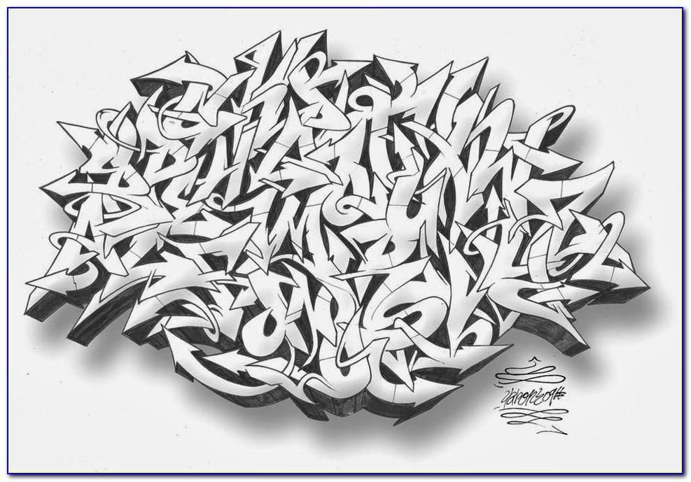 Wildstyle Graffiti Letters Alphabet