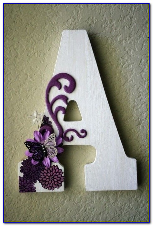 Wood Letter Blocks Decoration
