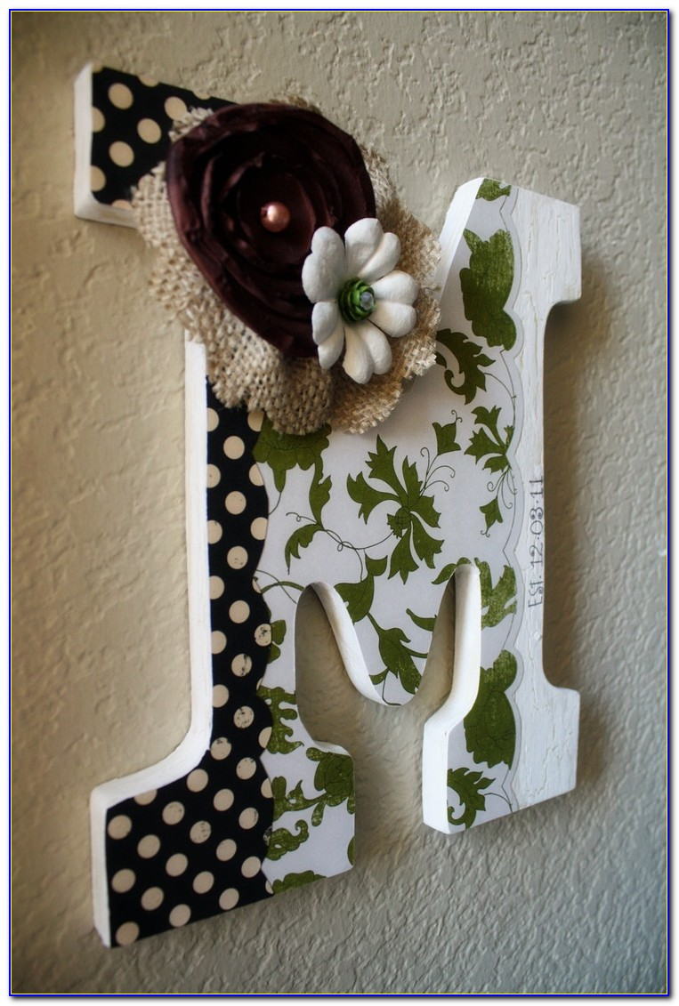 Wood Letter Decor Ideas