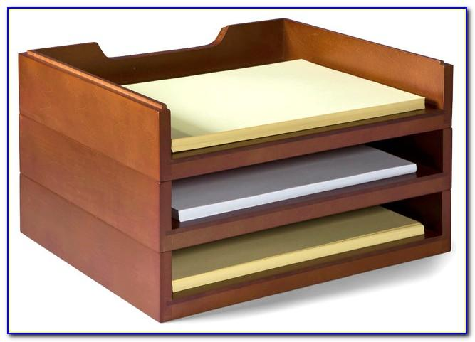 Wood Letter Trays Stackable