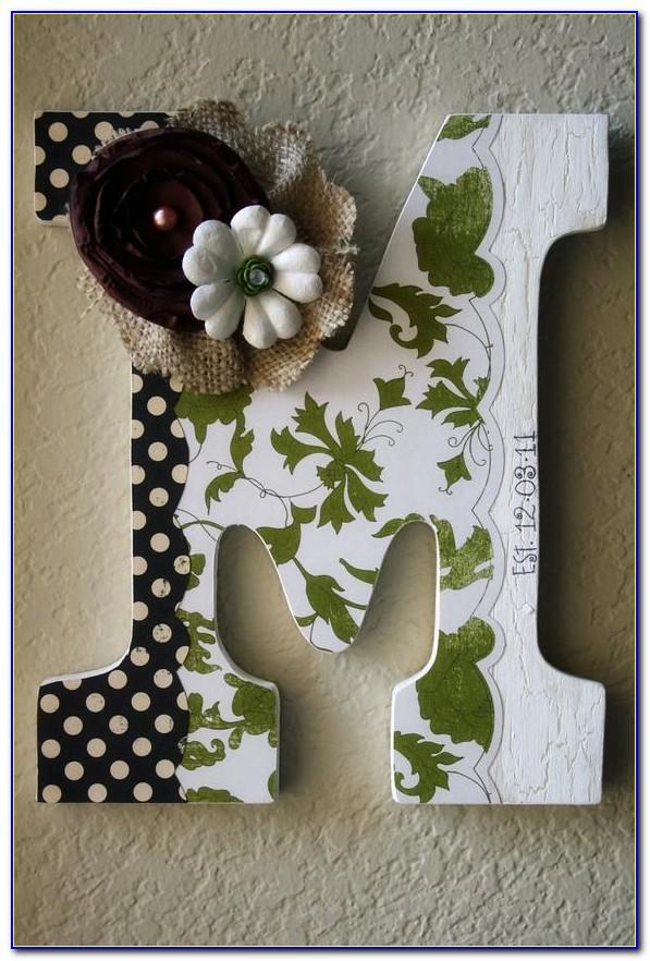 Wood Letter Wedding Decor