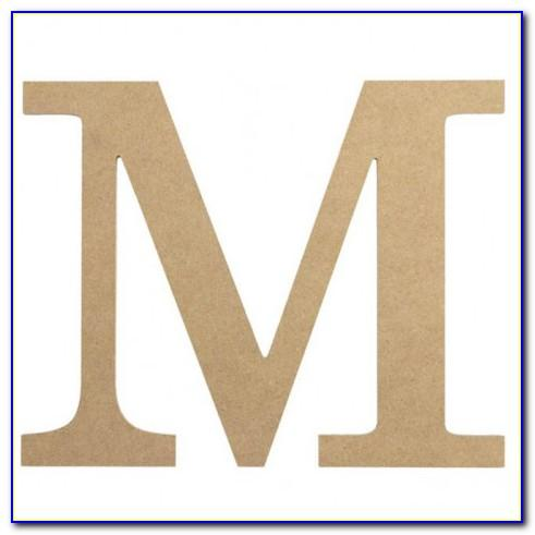 Wooden Letter M For Wall