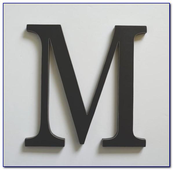 Wooden Letter Monogram