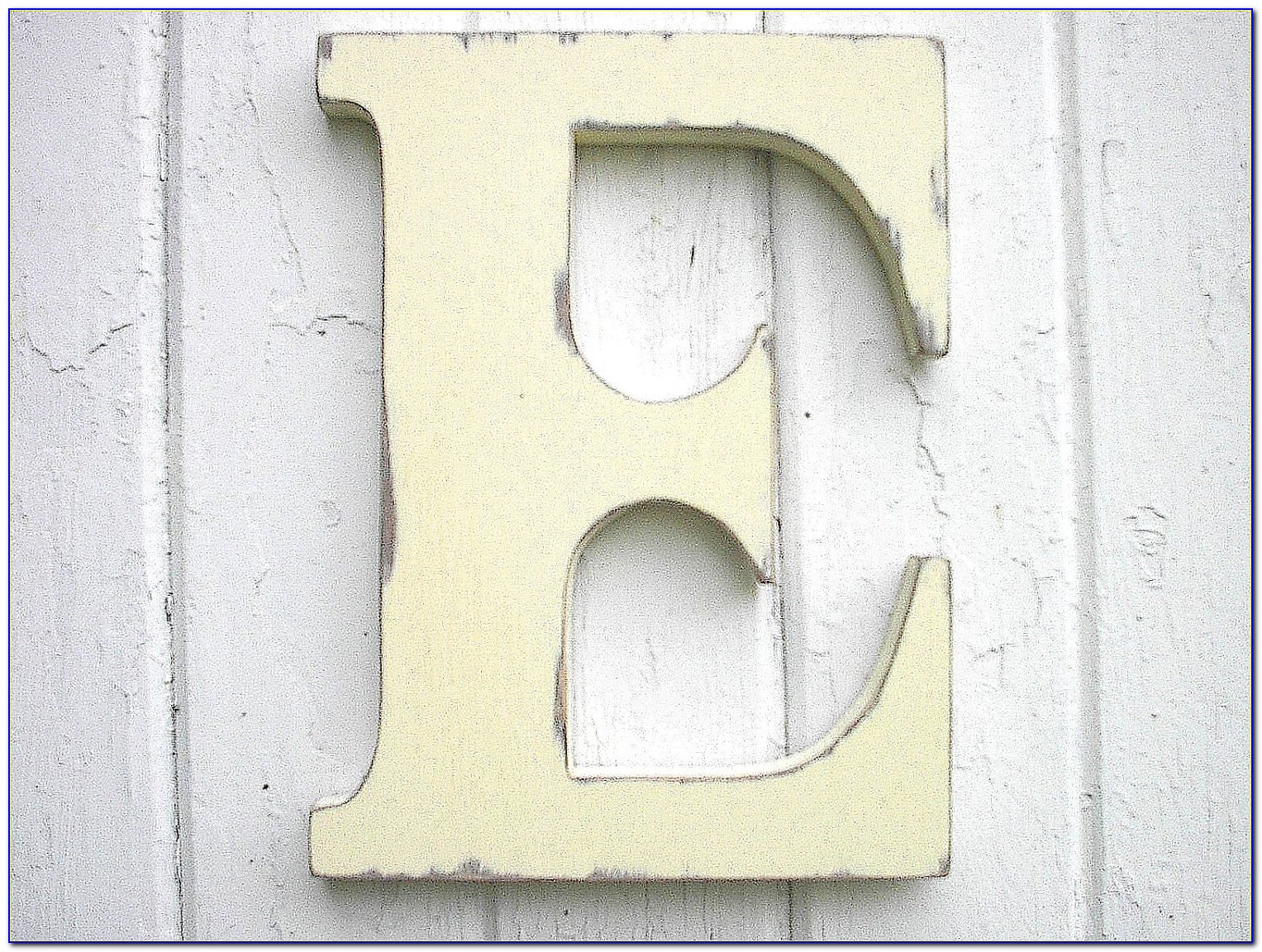 Wooden Letter N Wall Decor