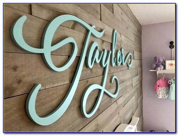 Wooden Letter Wall Decor