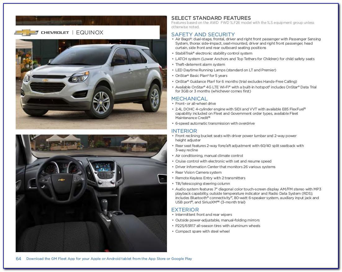 2015 Chevy Equinox Brochure