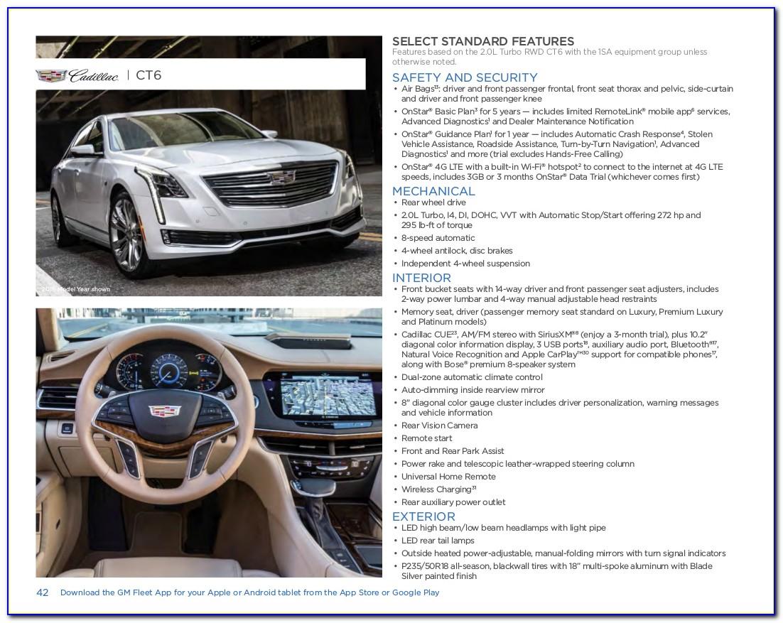 2017 Cadillac Ct6 Brochure Pdf