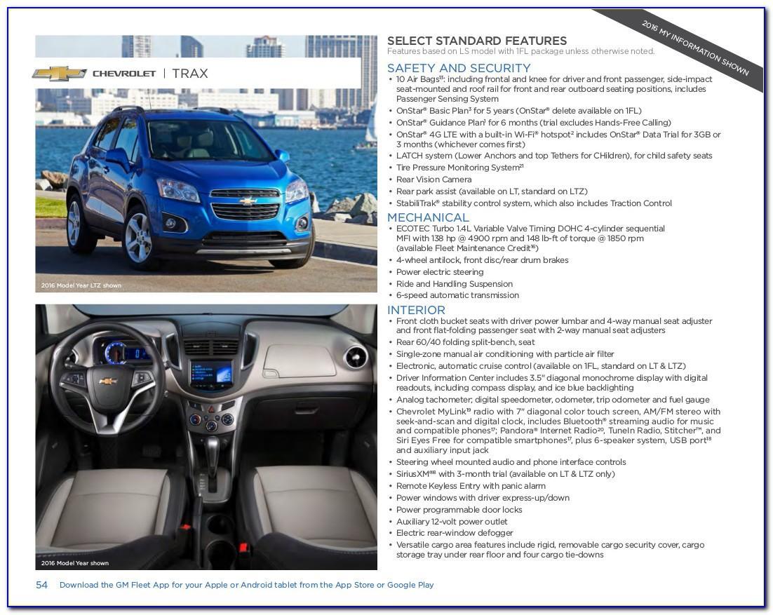 2017 Chevy Trax Brochure Pdf