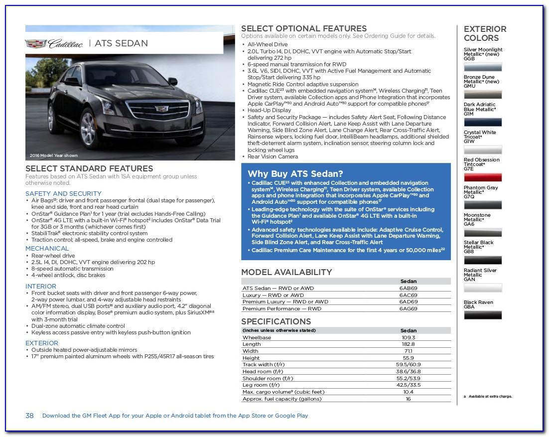 2018 Cadillac Ats Brochure Pdf