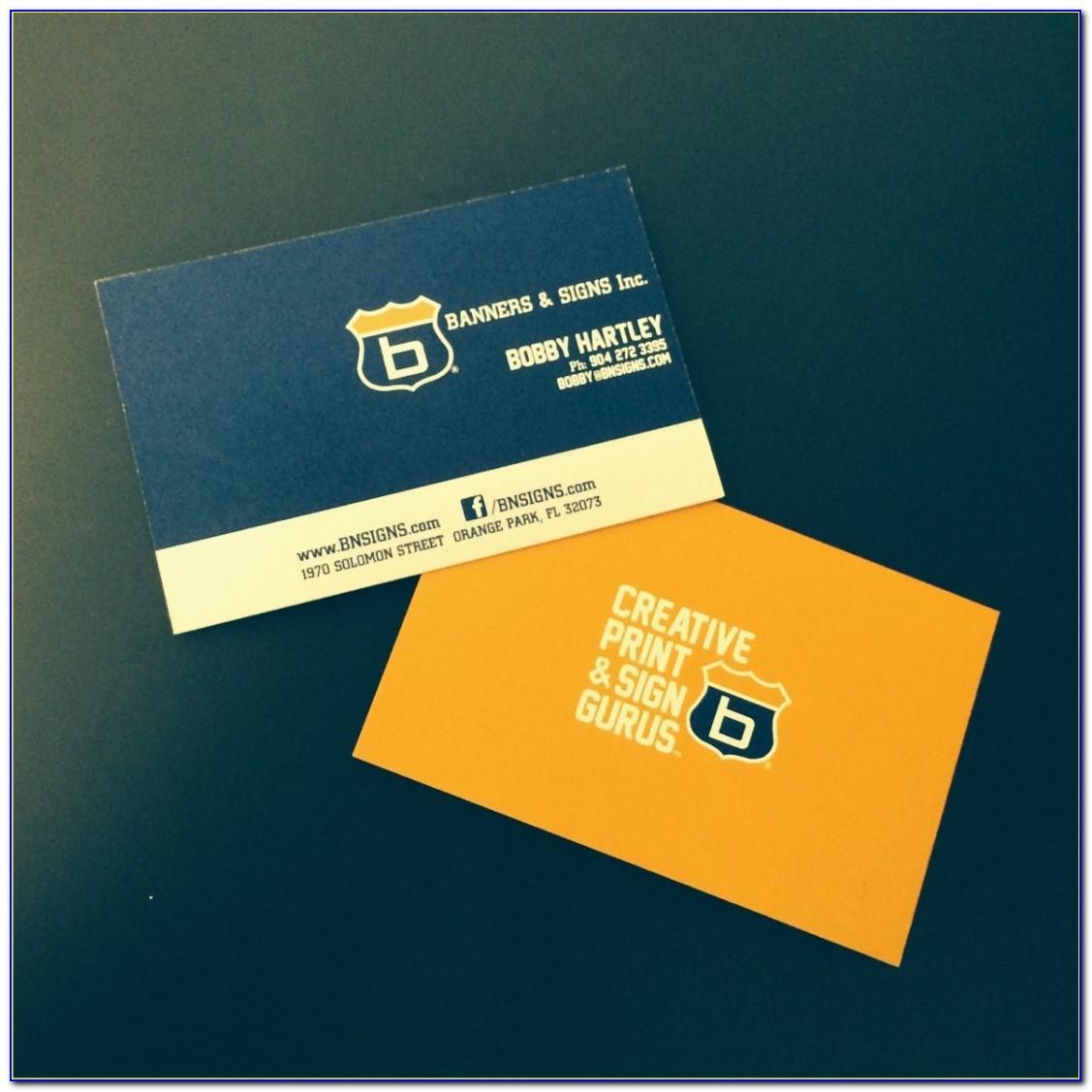32pt Silk Business Cards