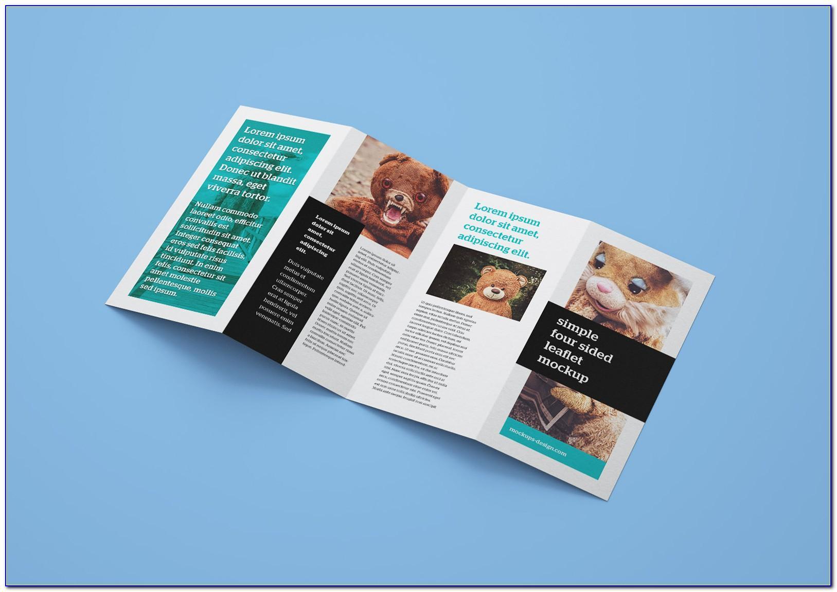 4 Fold Brochure Mockup Din A4 A5 A6