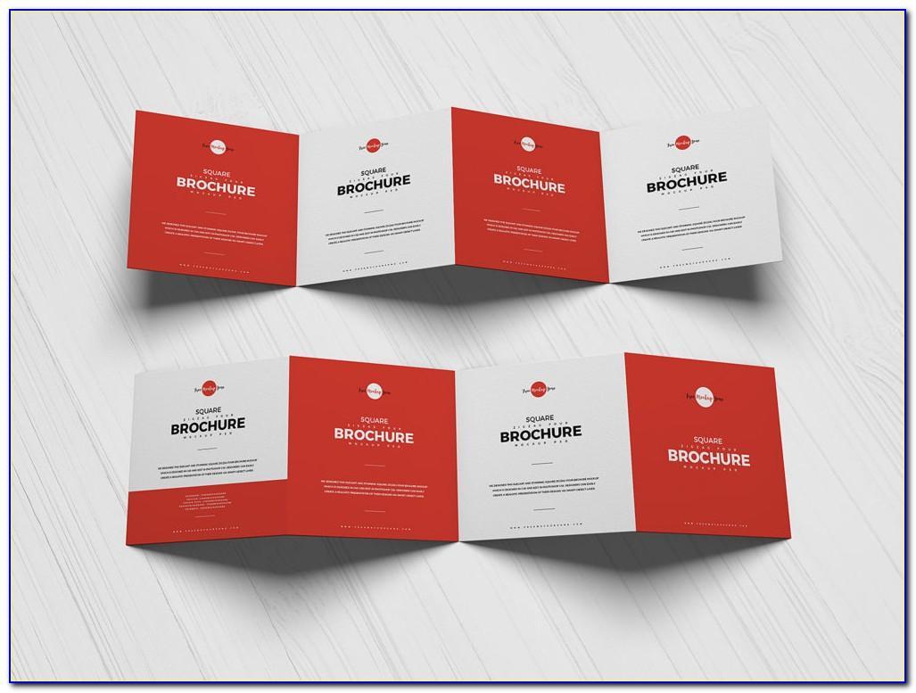 4 Fold Square Brochure Mockup Free Download