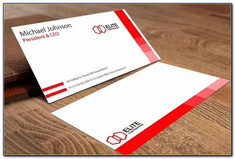 4 Over 4 Free Business Cards