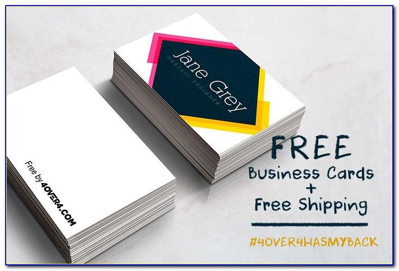4over4 Business Cards Free