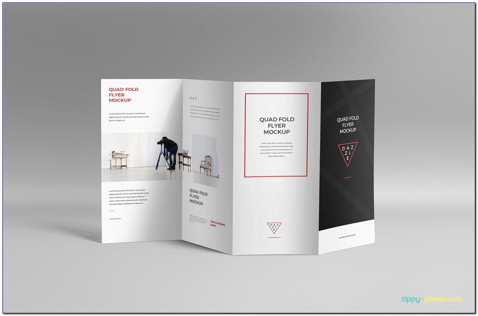 A4 4 Fold Brochure Mockup Free