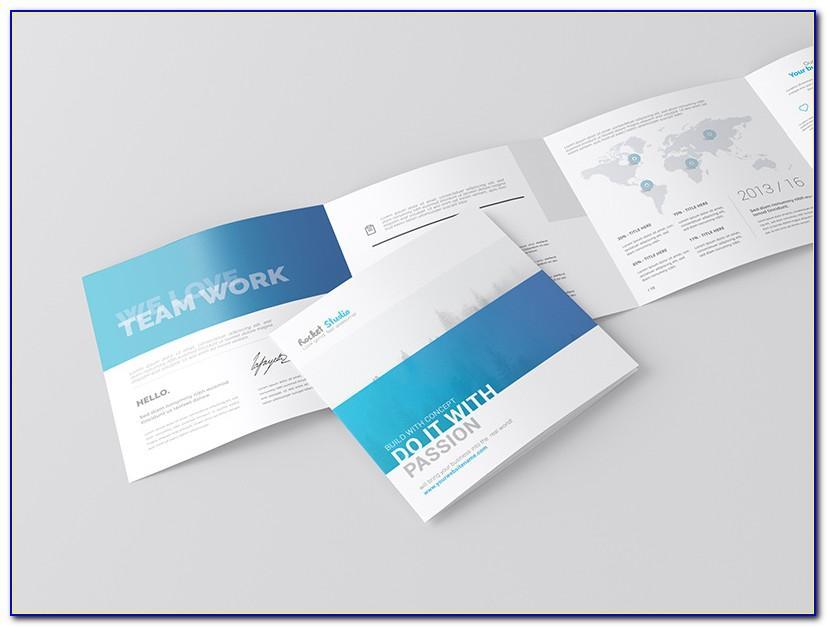A4 4 Fold Brochure Mockup