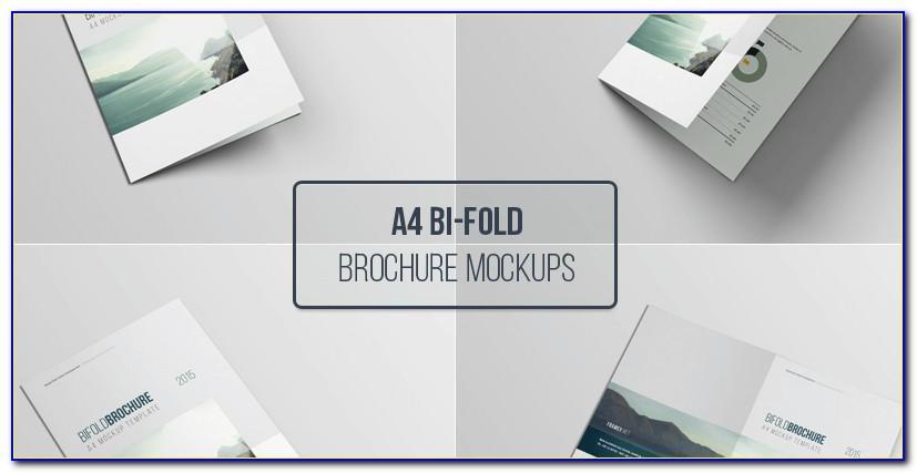 A5 Bifold Brochure Mockup Free