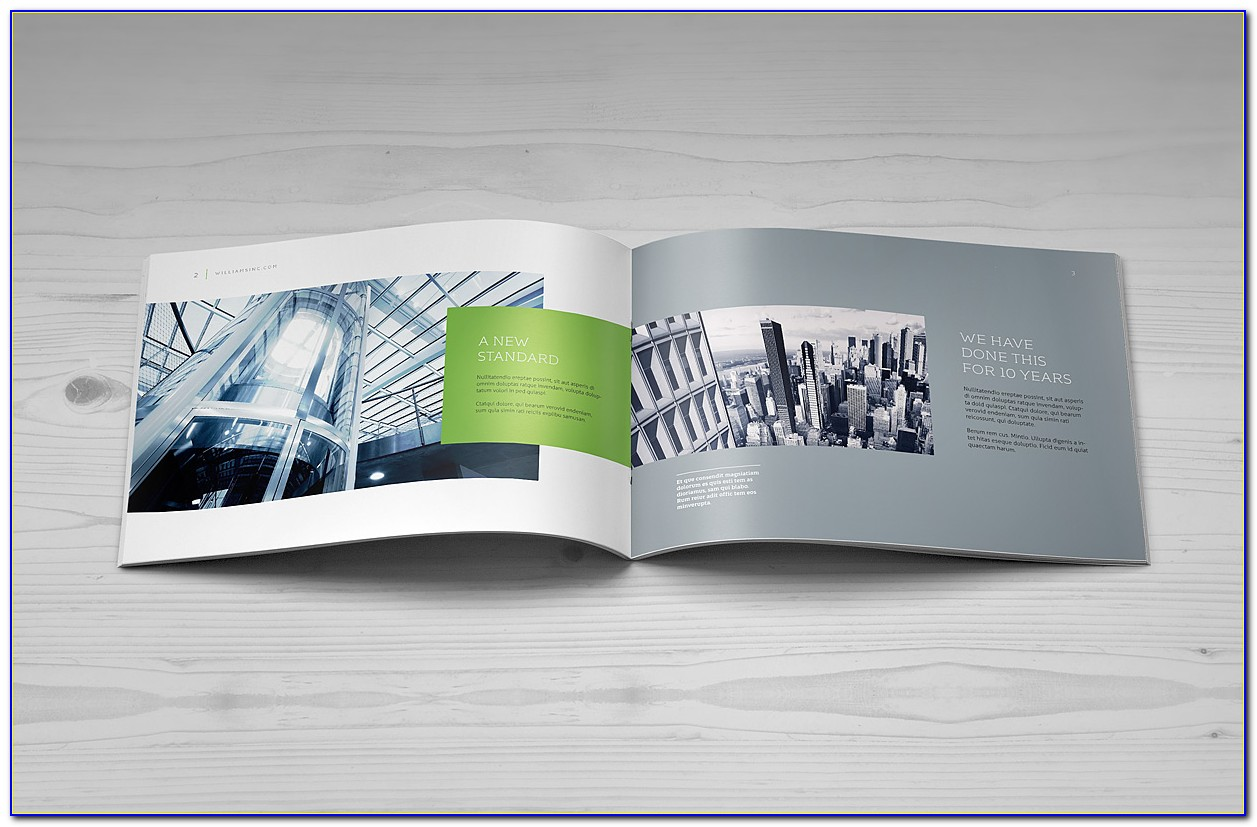 A5 Landscape Brochure Mockup Free