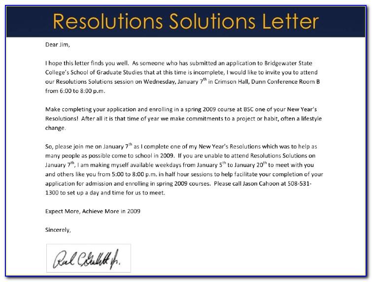 Ach Announcement Letter