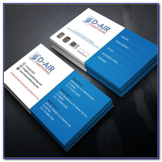 Airline Business Cards Design