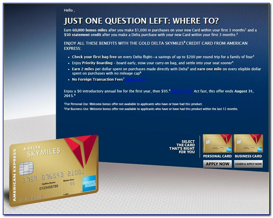 American Express Delta Skymiles Business Card