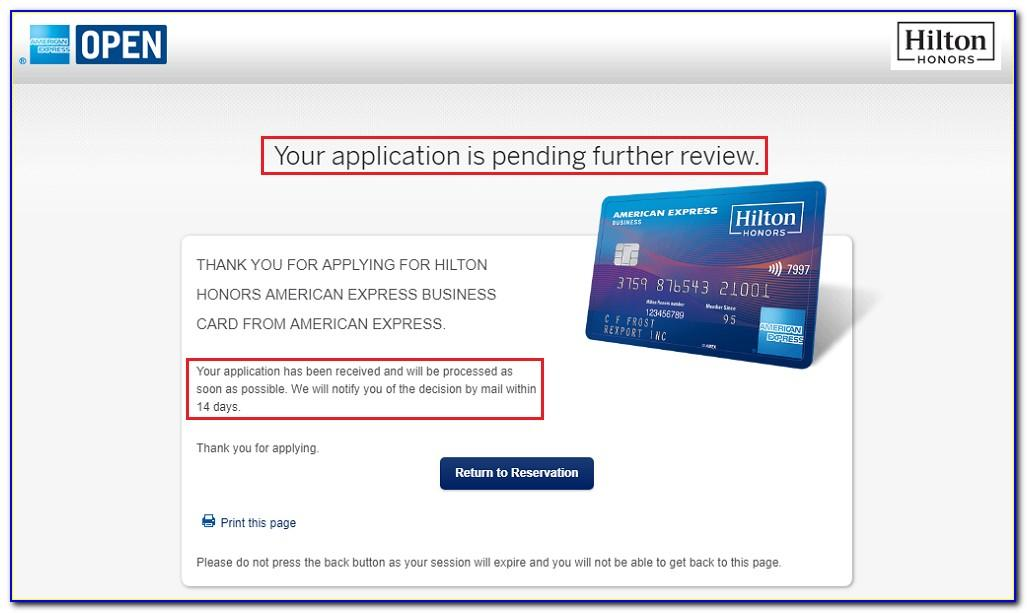 American Express Hilton Business Credit Card