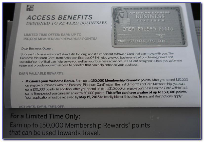 American Express Platinum Business Employee Card Application Form