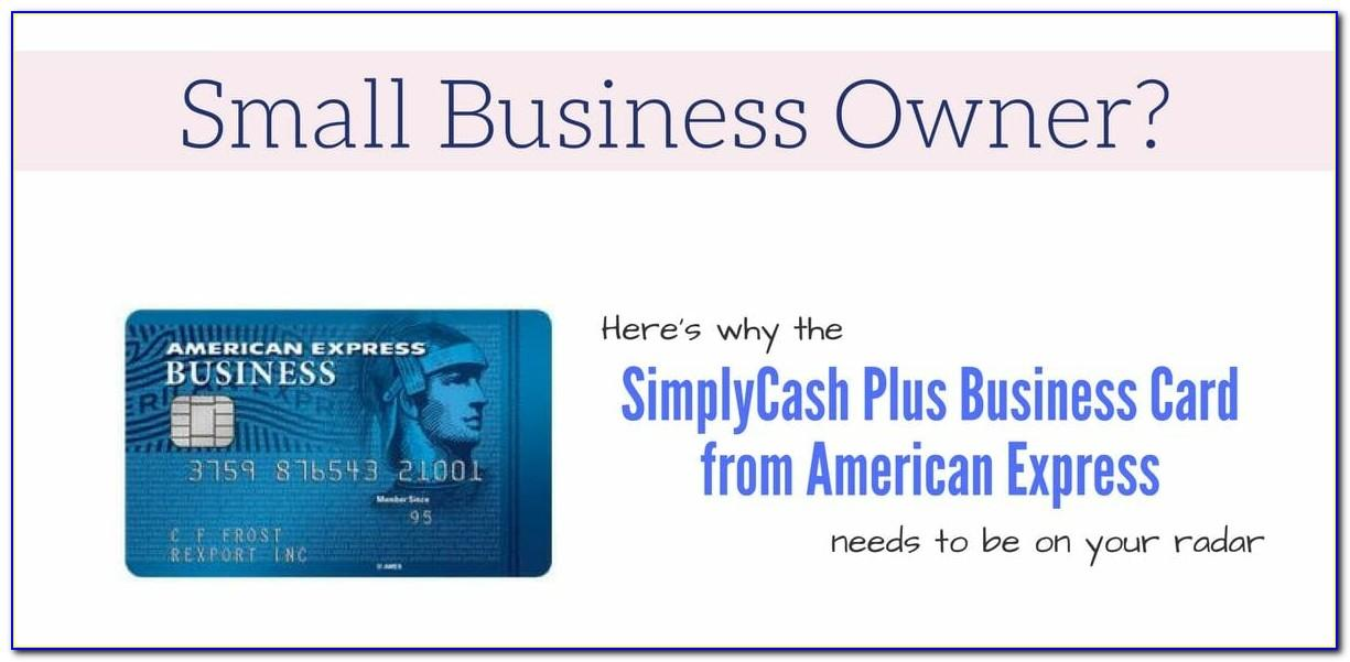 American Express Simplycash Plus Business Card
