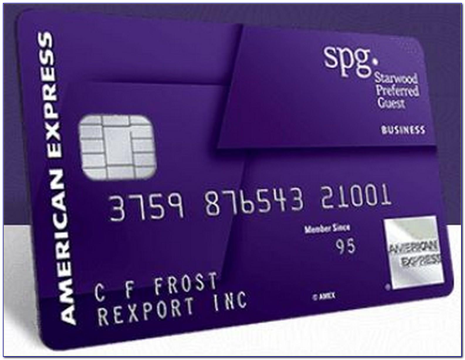 Amex Spg Business Credit Card
