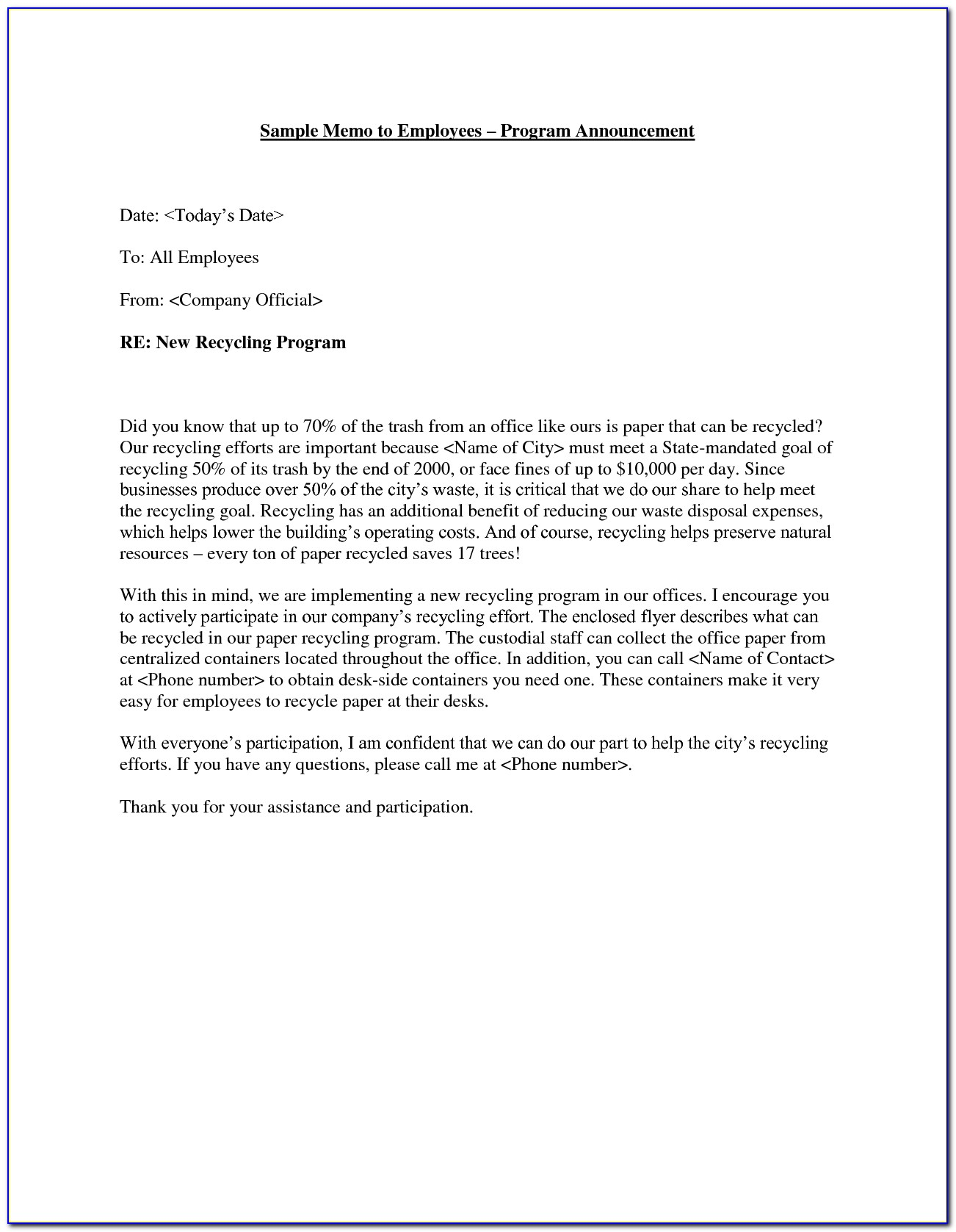 Announcement Of Employee Leaving Company Email Template
