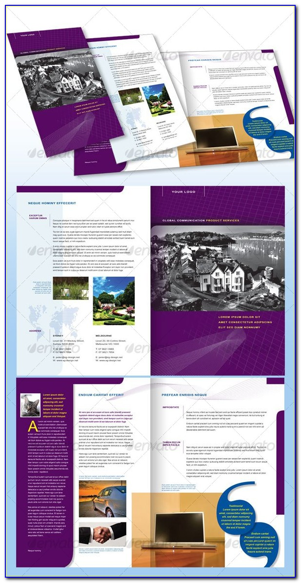 Apple Pages Brochure Templates