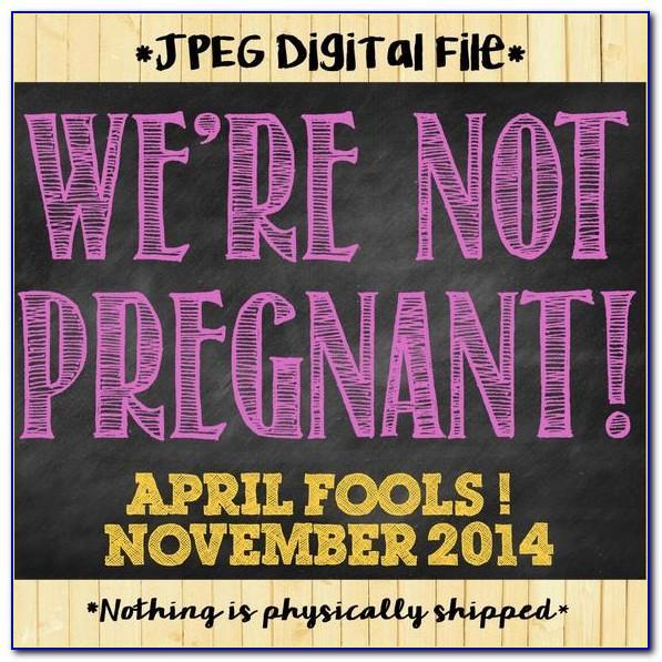 April Fools Day Pregnancy Announcements