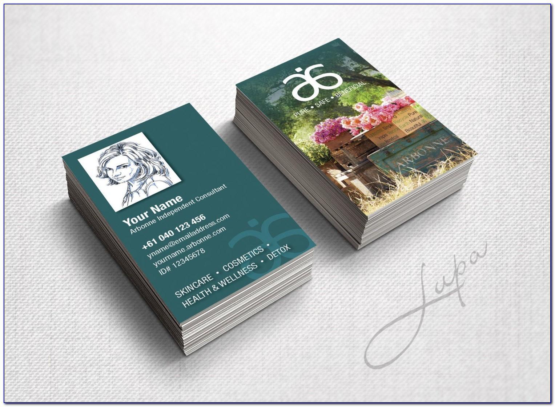 Arbonne Business Cards Australia