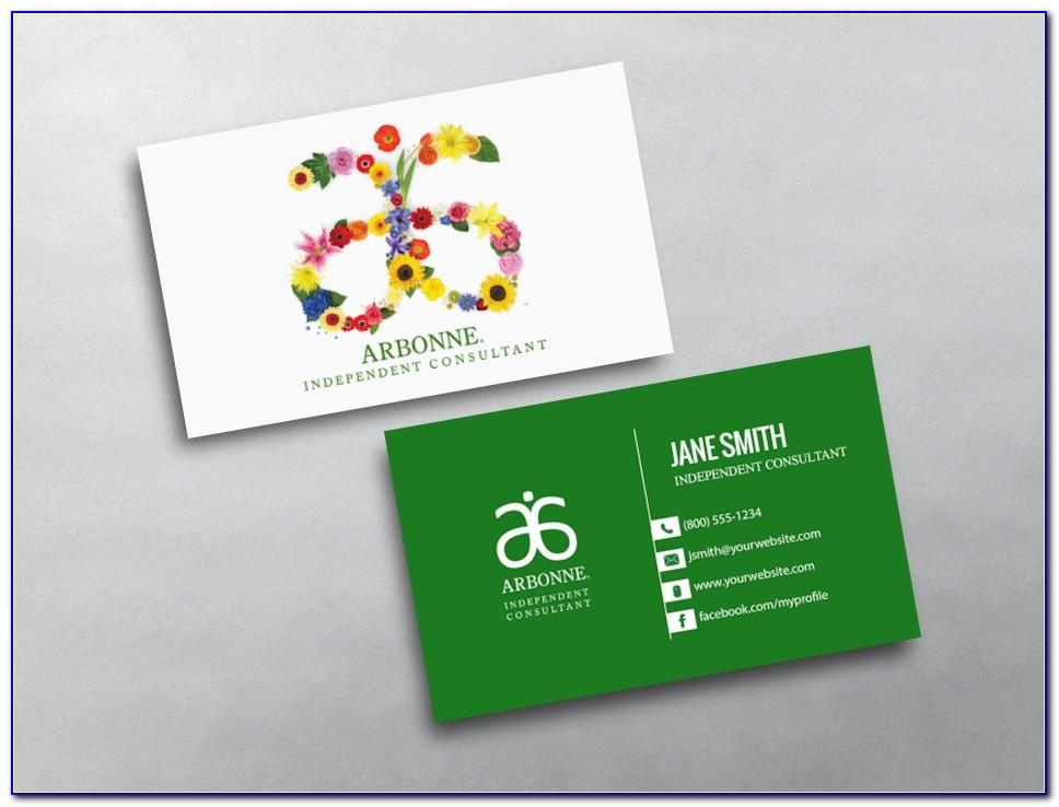 Arbonne Business Cards Etsy