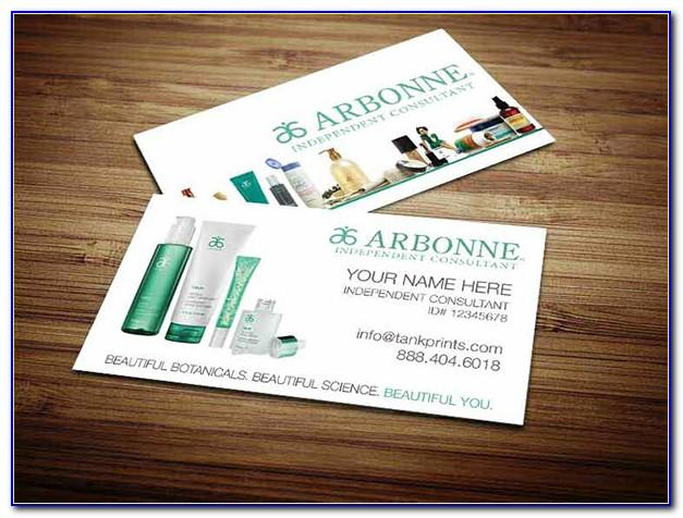 Arbonne Business Cards With Photo