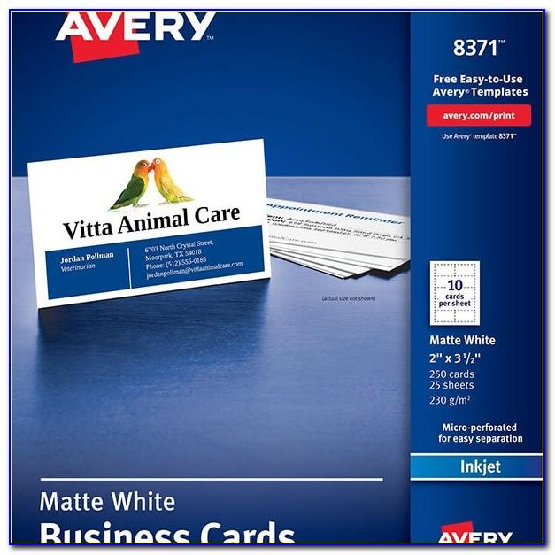 Avery 8371 Business Card Template Publisher