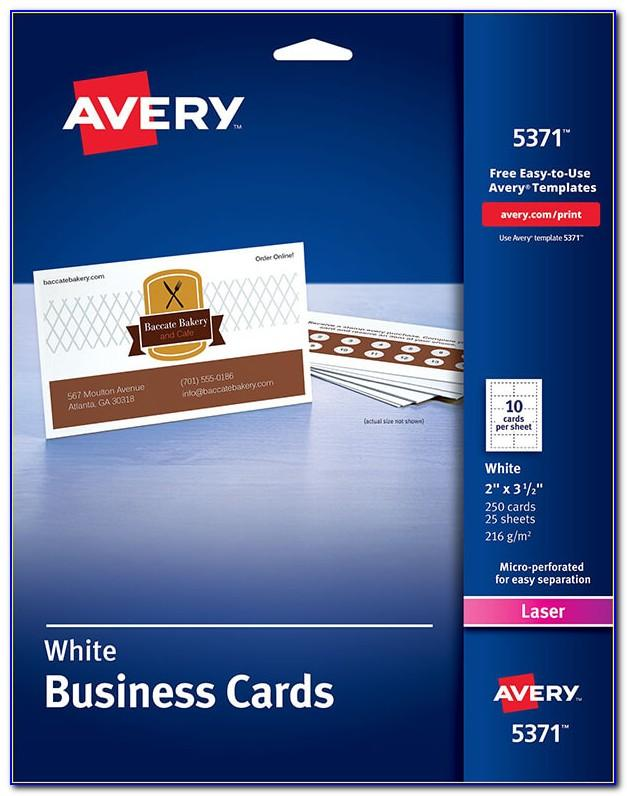 Avery Business Card Template 8376