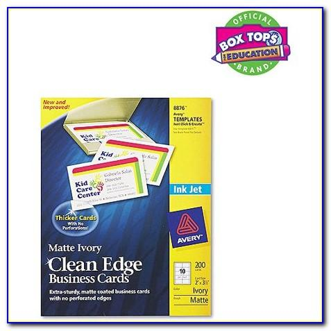 Avery Clean Edge Business Cards 28878