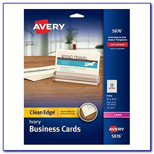 Avery Clean Edge Business Cards 5871