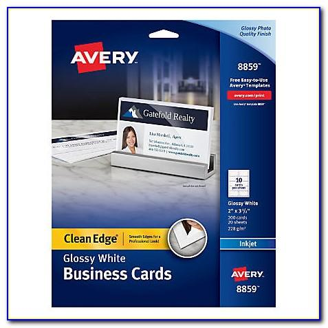 Avery Clean Edge Business Cards 8871 Template