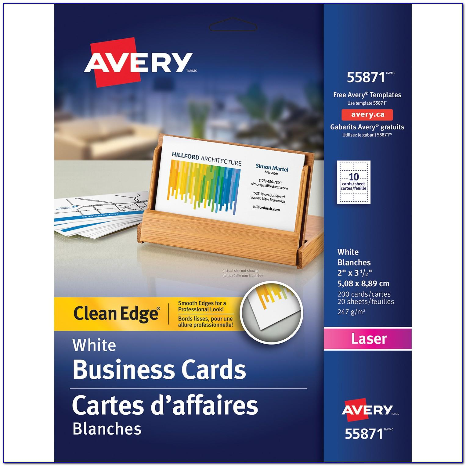 Avery Clean Edge Business Cards Inkjet