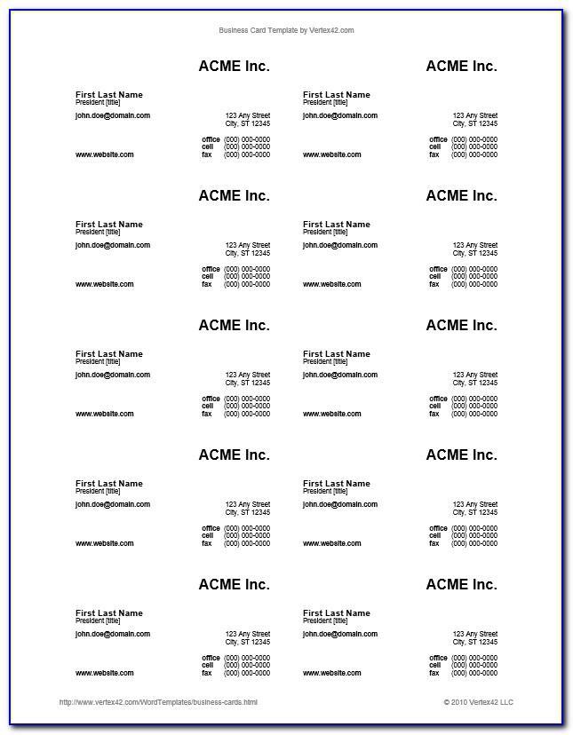 Avery Com Business Card Template