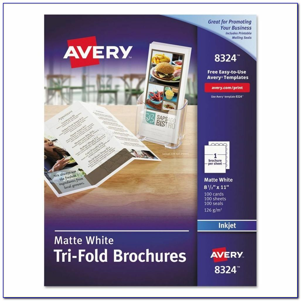 Avery Tri Fold Brochure Paper