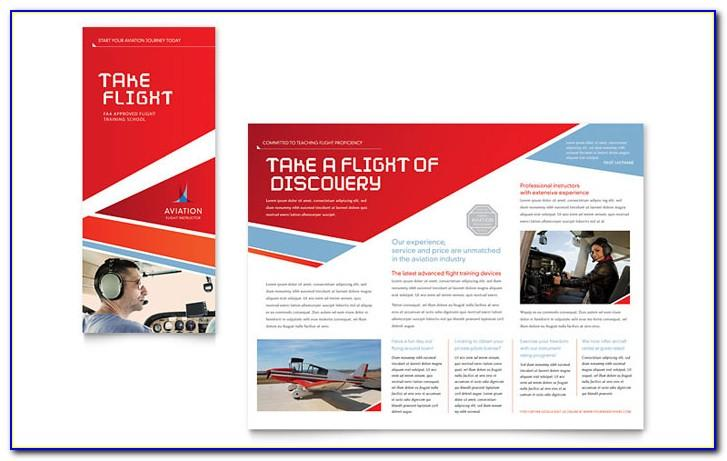 Aviation Brochure Templates