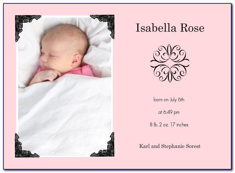 Baby Boy Arrival Announcement Template