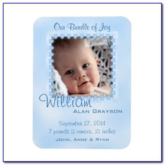 Baby Boy Birth Announcements Magnets
